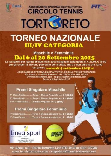 TORNEO NAZIONALE 3^/4^ CATEGORIA – Maschile & Femminile