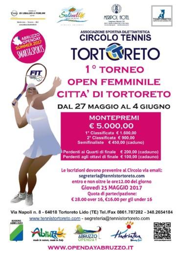 1° TORNEO OPEN FEMMINILE – 27 MAGGIO/4 GIUGNO
