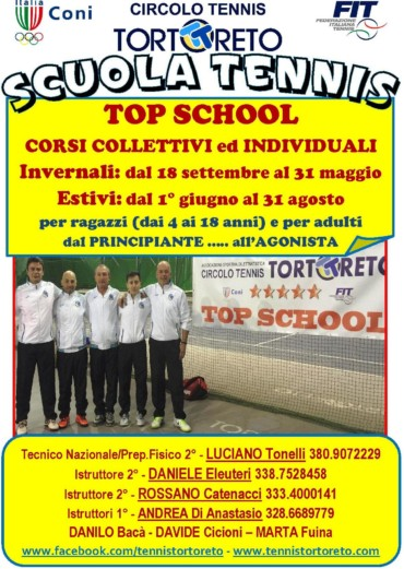 TOP SCHOOL – CORSI INVERNALI 2017/2018