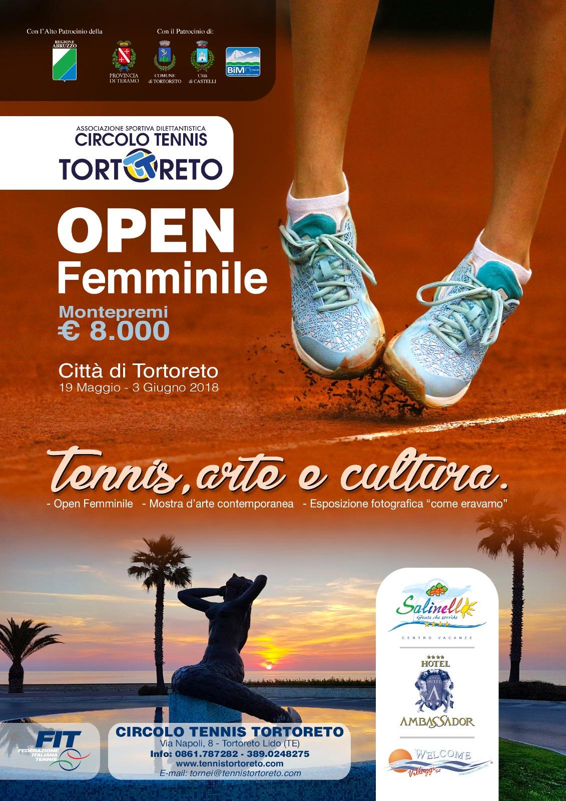 Open Femminile: Tennis Arte e Cultura