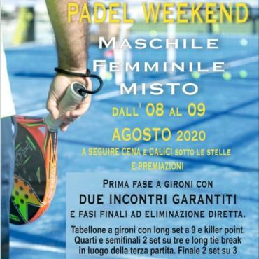 Padel Weekend  dal 08 al 09 agosto